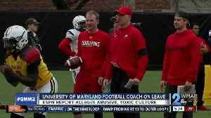 Maryland football coach suspended from program during investigation [Video]