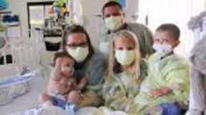News video: 5-Month-Old Thriving After Being Youngest Heart, Lung Transplant Recipient In Decade