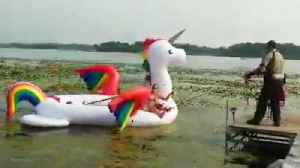 Women Stranded on Inflatable Unicorn Get Rescued From Minnesota Lake [Video]