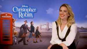 'Disney's Christopher Robin': Exclusive Interview With Hayley Atwell [Video]