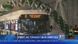 First AC Transit Commuter Buses Arrive To New Salesforce Transit Center [Video]