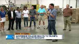 Governor Walker says 'no tariffs' the way to go on Harley [Video]