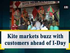Kite markets buzz with customers ahead of I-Day [Video]