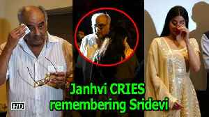 Janhvi couldn't STOP CRYING remembering Sridevi [Video]