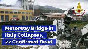 Motorway Bridge in Italy Collapses, 22 Confirmed Dead [Video]