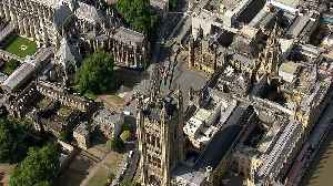 Westminster incident: Aerial footage of crashed car [Video]