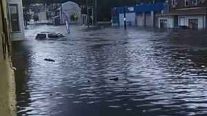Streets Flooded in Darby, Pennsylvania, After Heavy Rain [Video]