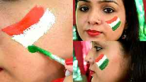 Independence Day: Flag Face Painting DIY | चेहरे पर ऐसे ब&#x92 [Video]