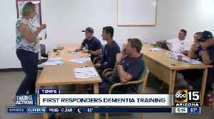 Tempe to train first responders to better care for those with dementia [Video]