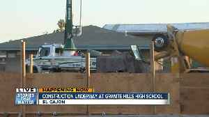 Crews lay foundation for new PE/Nutrition Comples at Granite Hills High School [Video]