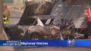 Cadets Rescue Woman From Fiery I-88 Car Crash [Video]