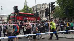 Two People Injured In Car Collision Outside UK House Of Parliament [Video]