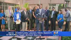 State Representatives, Community Leaders Show Support For Broward Schools Chief [Video]