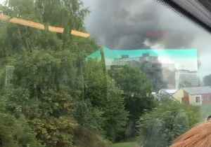 Smoke From Recycling Plant Fire Spotted in Greater Manchester [Video]