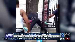 Baltimore officer seen in viral punching video charged [Video]