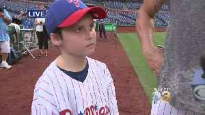 9-Year-Old Cancer Survivor Meets Phillies Pitcher Jake Arrieta [Video]