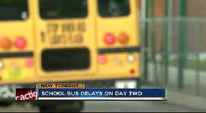 School bus delays on day 2 in Polk County [Video]