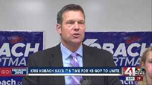 Kobach maintains lead after most provisional ballots counted [Video]