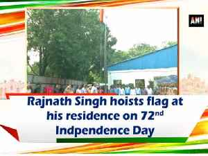 Rajnath Singh hoists flag at his residence on 72nd Indpendence Day [Video]