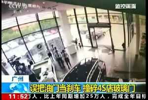 Chinese driver smashes into car dealership [Video]