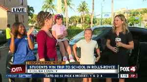 Contest gives two Collier students a trip to school in Rolls-Royce - 7:30am live report [Video]