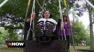 A new swing at the Clarence Town Park brings lots of smiles [Video]