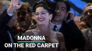 Madonna On The Red Carpet [Video]