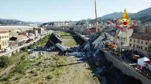 New Aerial Video Shows Aftermath Of Bridge Collapse In Italy [Video]