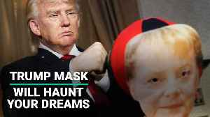 Madame Tussauds' Trump Mask Will Haunt Your Dreams [Video]