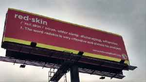 Billboard Protesting Use of 'Redskins' as Mascot Posted Near High School