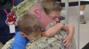Coast guard dad surprises sons at Cleveland Browns game [Video]