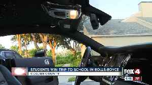 Local radio show gives two Collier County students a trip to school in Rolls-Royce Wraith [Video]