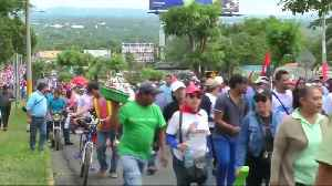 Pro-government supporters march in Nicaragua in defense of Ortega [Video]