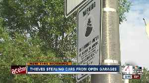 KC police following leads in string of thefts from open garage doors [Video]