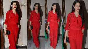 Jhanvi Kapoor looks like her mother Sridevi in her bold red jumpsuit | FilmiBeat [Video]