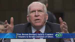 Trump Revokes Former CIA Director Brennan's Security Clearance [Video]