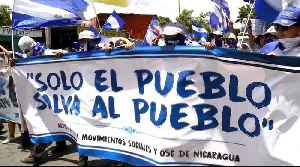 Nicaraguans marchers call for release of political prisoners [Video]