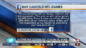 2nd restaurant in Southwest Florida vows to not show NFL games [Video]