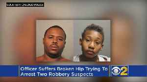 Officer Suffers Broken Hip Trying To Arrest Two Robbery Suspects [Video]