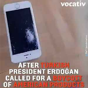 Erdogan Called to Boycott American Electronics So Naturally His Supporters Destroyed Their iPhones [Video]
