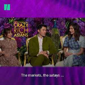 'Crazy Rich Asians' Stars Dish On Singaporean Cuisine [Video]