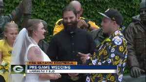 Love birds get hitched at Lambeau Field ahead of preseason game [Video]
