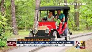 Antique Cars ride coming back to Kings Island [Video]