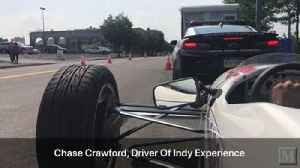 News video: POV: Riding in an two-seat Indycar around SteelStacks