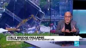 Italy bridge collapse: Government opens probe into bridge operator Autostrade [Video]