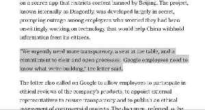 Google employees demand transparency in China plans