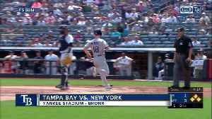 New York Yankees load bases in 9th inning, but Rays rookie pitcher Adam Kolarek escapes for 3-1 win [Video]