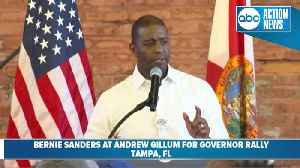 Andrew Gillum speaks at his rally for governor [Video]