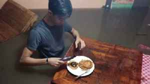 Eating Breakfast During A Flood [Video]