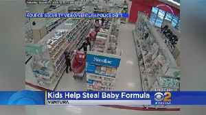 Kids Help Steal Baby Formula [Video]